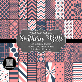 Southern Belle Digital Paper Collection 12x12 600dpi