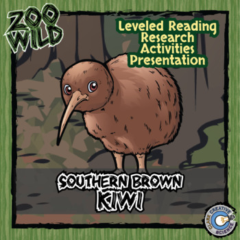 Southern Brown Kiwi -- 10 Resources -- Coloring Pages, Rea