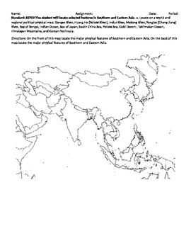 Southern and Eastern Asia Map