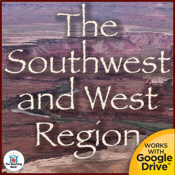 Southwest and West Regions Interactive Notebook