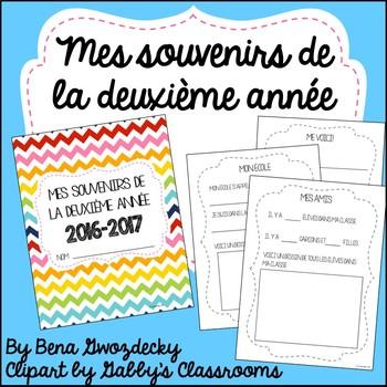 {Souvenirs de la deuxième année!} A memory book for the en