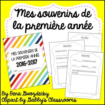 {Souvenirs de la première année!} A memory book for the en