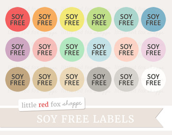 Soy Free Label Clipart