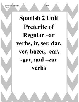 Avancemos 2 Preterite of –ar verbs, ir, ser, dar, ver, hac