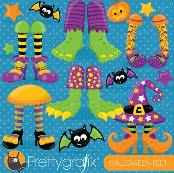 Halloween feet clipart commercial use, vector graphics, di