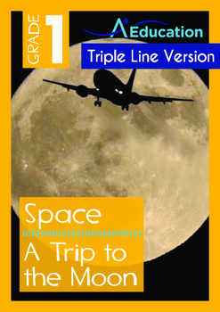 Space - A Trip to the Moon - Grade 1 (with 'Triple-Track W