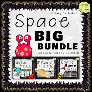 Space Activity Bundle: Fact File - Game Cards - Dominoes
