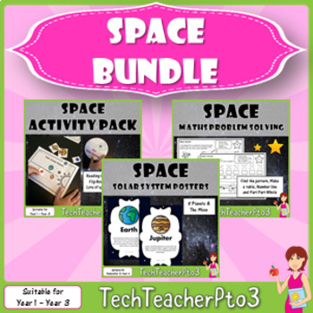 Space Bundle Reading Comprehension Maths Problem Solving Solar System Posters