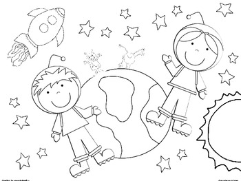 Coloring: Space Coloring Sheets