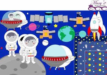 Space Explorers Clip Art