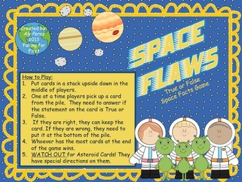 Space Flaws: True and False Space Facts Game (First Grade)
