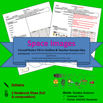 Space Images Cornell Notes #27