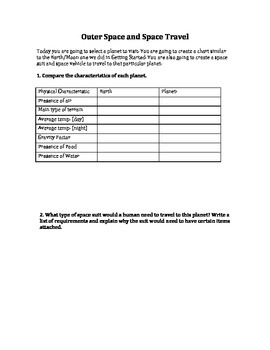Space Inquiry Sheet