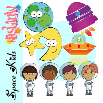 Space Kids Clipart