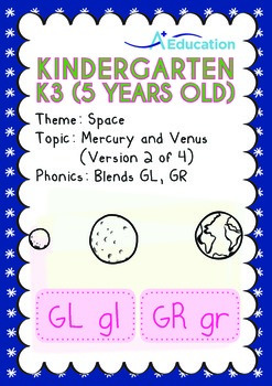 Space - Mercury and Venus (II): Blends GL, GR - Kindergart
