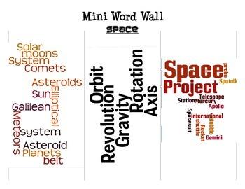 Space Mini Word Walls