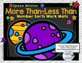 Space Mission: More Than Less Number Sorts Work Mats