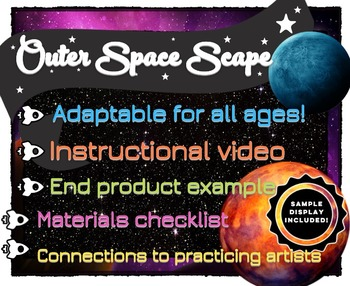 Space Painting Lesson/Activity: all ages (Chalk Pastel & P