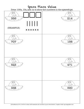 Space Place Value Practice Sheet FREEBIE