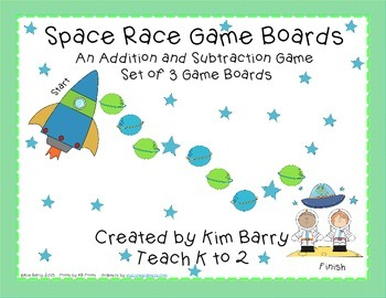 Game Boards - Addition and Subtraction Practice - Space Ra