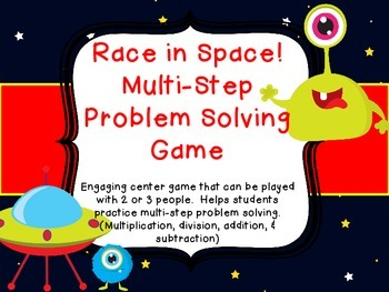 Multi Step Story Problem Solving Common Core Space Game Mu