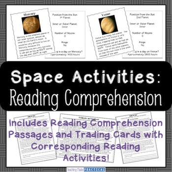 Space Reading Comprehension Activities and Reading Passages