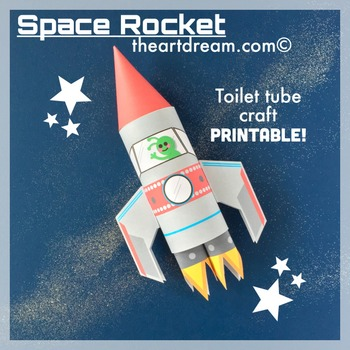 Space Rocket Toilet Tube Craft
