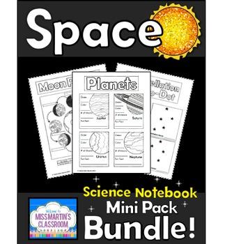 Space Science Notebook Mini Pack Bundle