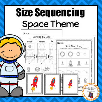 Space Size Sequencing Worksheets and Activities