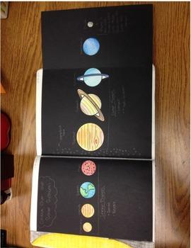 Space &Solar System Unit Interactive Notebook Bundle