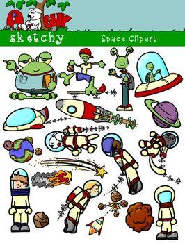 Space, Spaceship, Astronaut, Alien Clipart / Graphics - 30