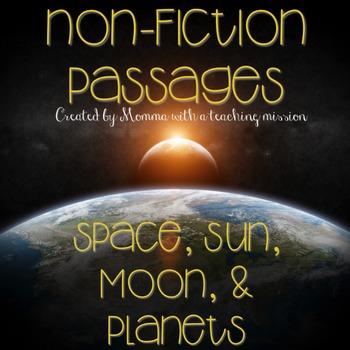 Space, Sun, Moon, and Planets No Prep Printables Non-ficti