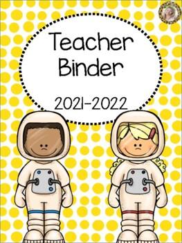 Space Teacher Binder {FREE yearly updates!}