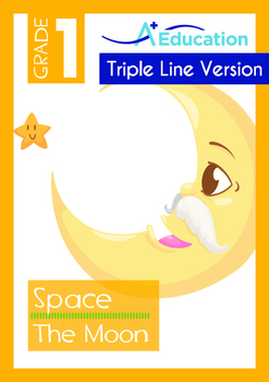 Space - The Moon (I) - Grade 1 (with 'Triple-Track Writing