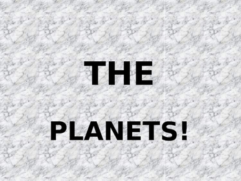 Space - The Planets
