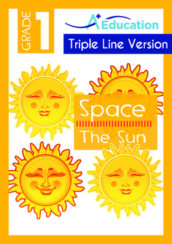 Space - The Sun - Grade 1 (with 'Triple-Track Writing Lines')