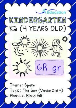 Space - The Sun (II): Blend GR - Kindergarten, K2 (4 years old)