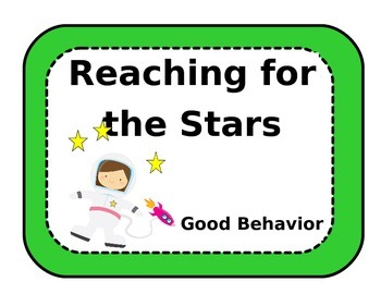 Space Themed Behavior Chart