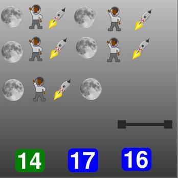 Space Theme Counting SMARTboard Activity