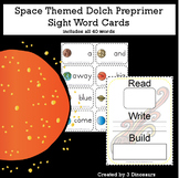 Space Theme Dolch Preprimer Sight Words
