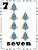 Space Theme - Number Cards 0-10