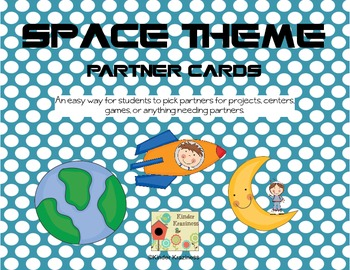 Space Theme Partner Cards