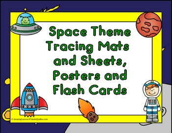 Space Theme Tracing, Mats and Sheets