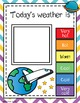 Space Theme - Weather Chart - Classroom Decor