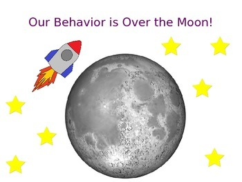Space Themed Behavior Sign