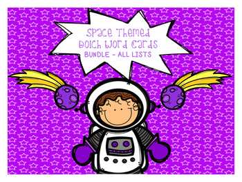 Space Themed Dolch Word Games - BUNDLE! All Lists