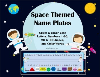 Space Themed Name Plates