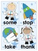 Space Themed Word Cards (dolch 1st grade)
