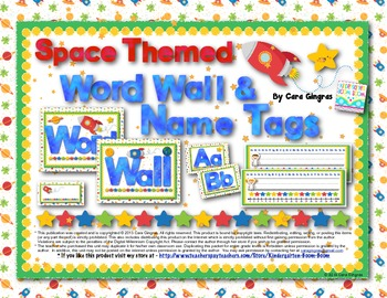 Space Themed Word Wall and Name Tags