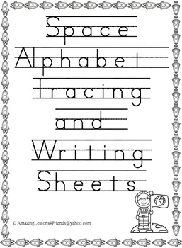 Space Tracing and Writing Sheets (NO PREP)